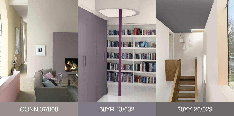 Purple grey bedroom pictures