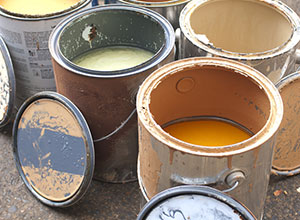 How do I dispose of waste paint?