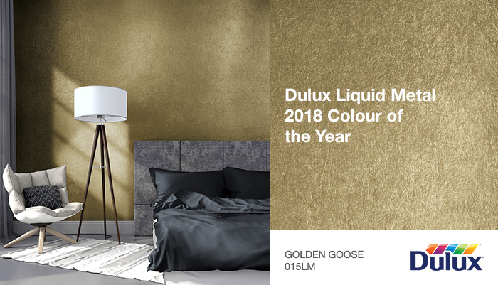 Dulux Liquid Metal 2018 Colour of the Year  Golden Goose 015LM
