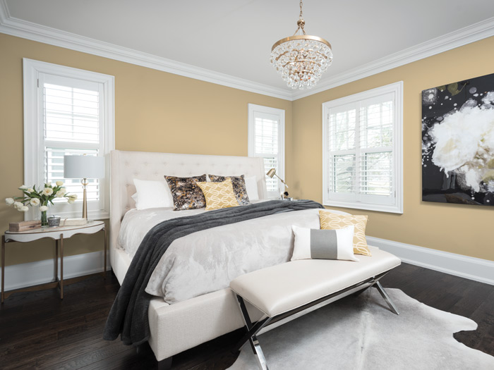 Colours For Bedroom 2018. Brass mixed with other metals like chrome or matt black continues to trend  adding a flourish this theme and room painted in Spiced Vinegar Dulux 2018 Colour Decor Trends